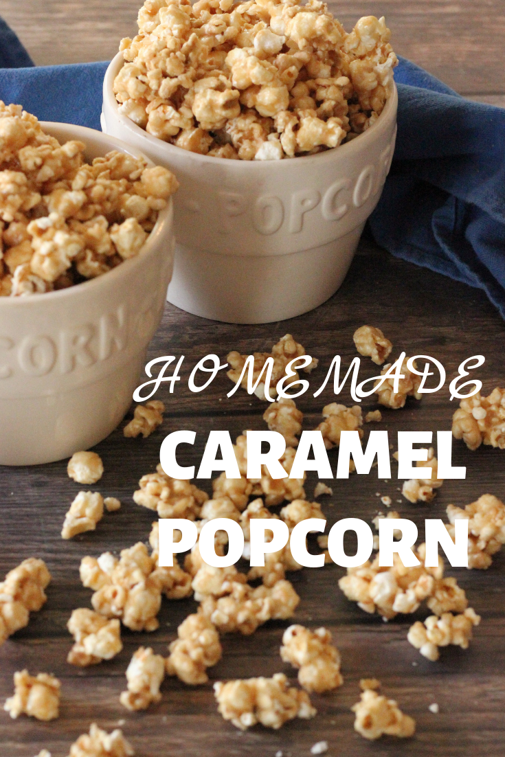 Crunchy and delicious Homemade Caramel Popcorn.