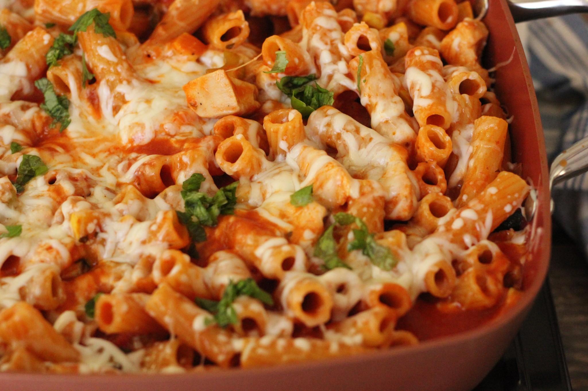 One Pot Chicken Pasta Parmesan