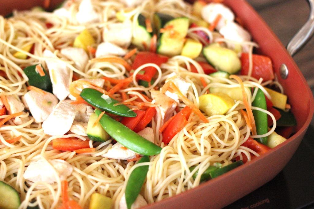 chicken lo mein before sauce