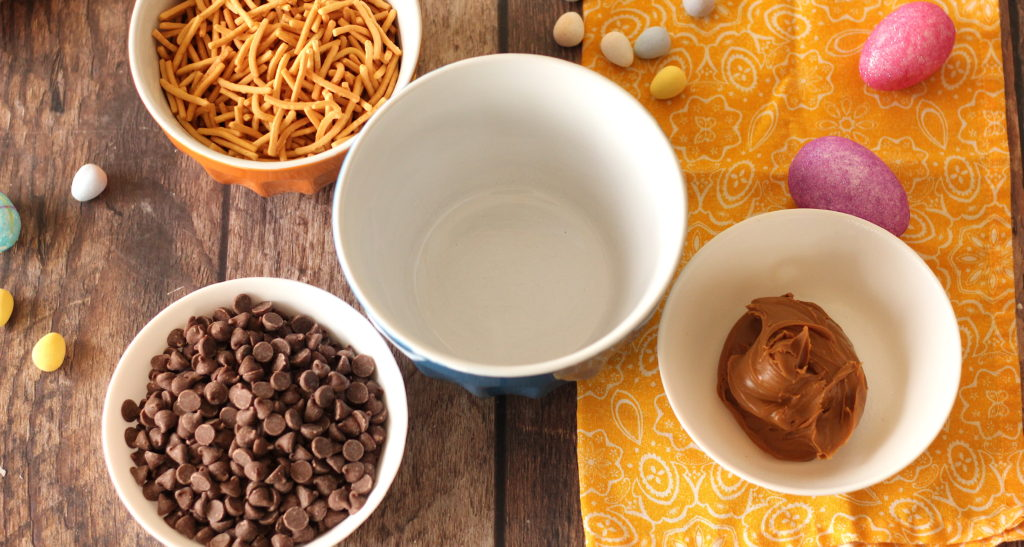 Chocolate biscoff bird's nest ingredients