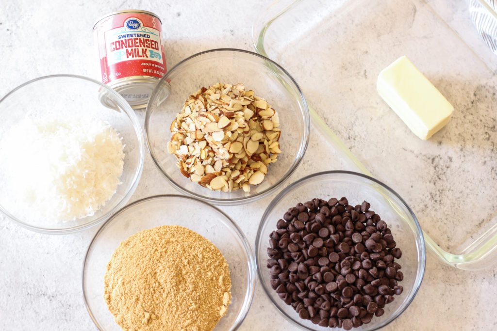ingredients for magic cookie bars