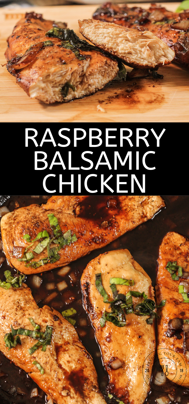pinterest image of balsamic chicken