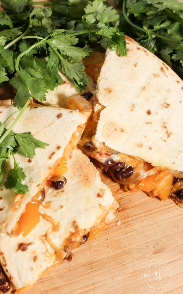 vegetable quesadillas with cilantro