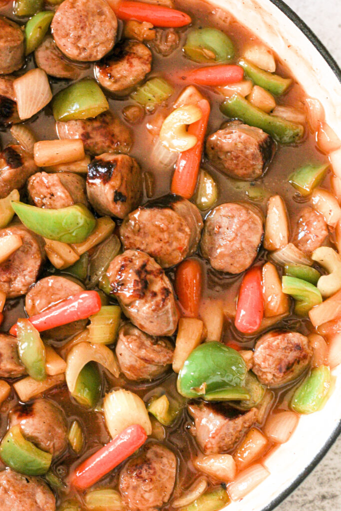 sweet and sour sausages