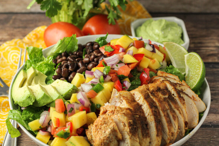 mango salsa chicken salad