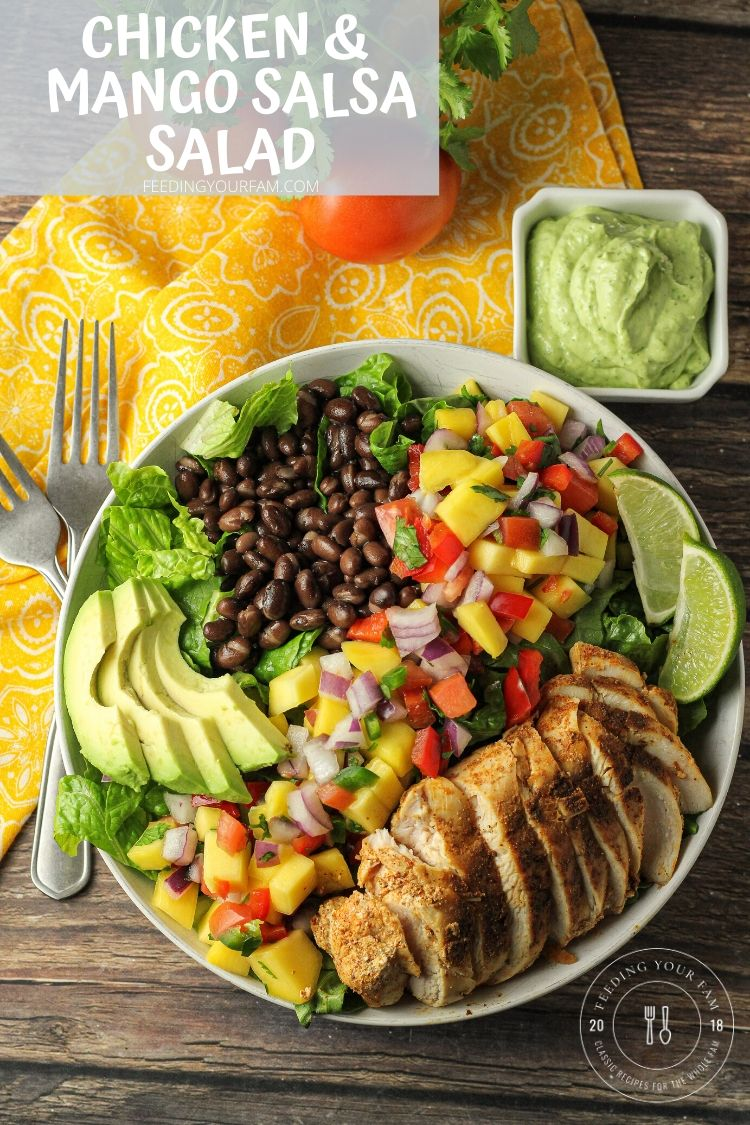 mango salsa and chicken salad