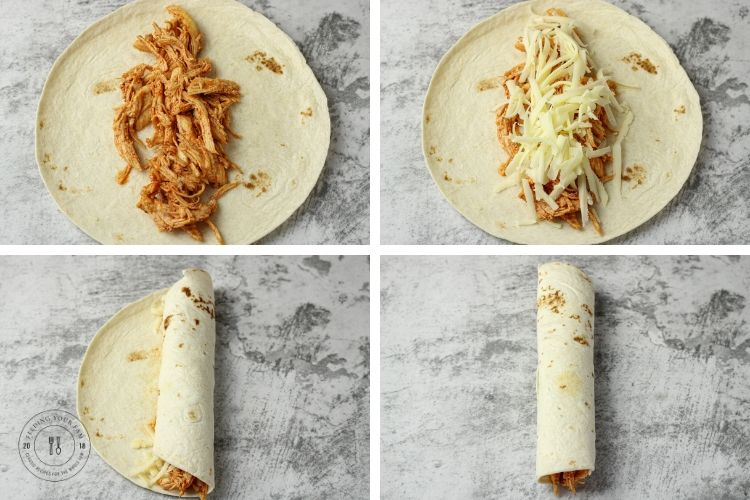 steps to roll an enchilada