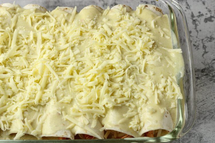 enchiladas covered in cheese