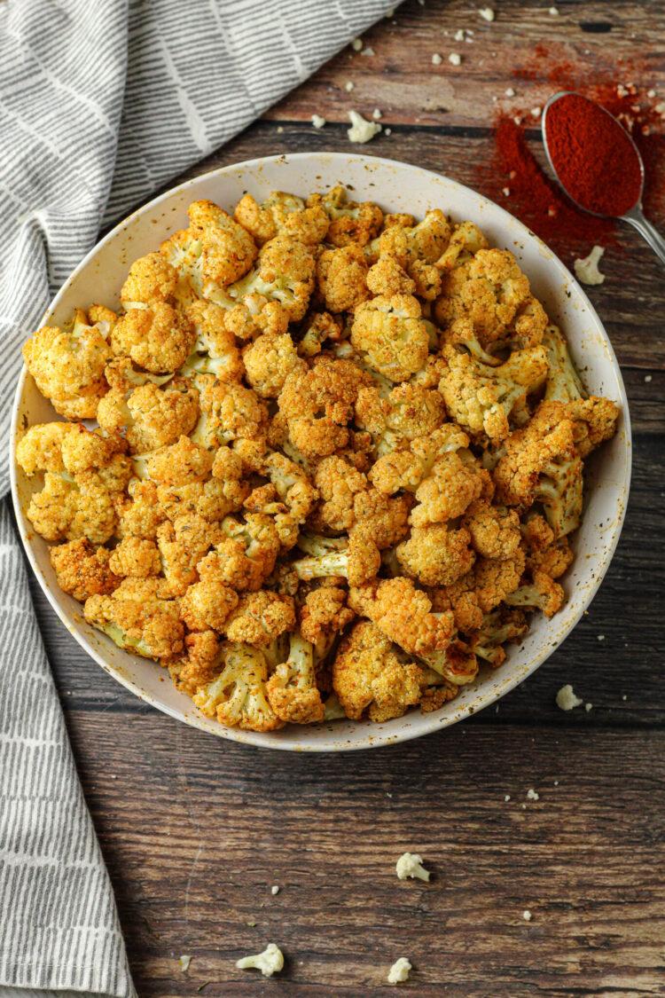 seasoned oven baked cauliflower