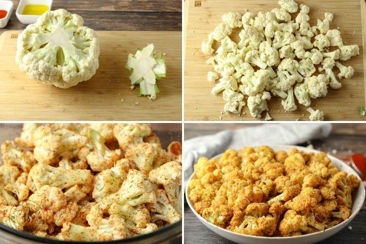 steps to make seasoned cauliflower