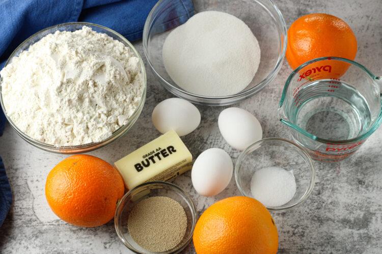 ingredients for orange rolls