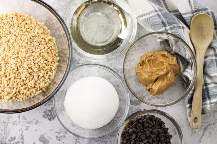 ingredients for rice krispies with peanut butter