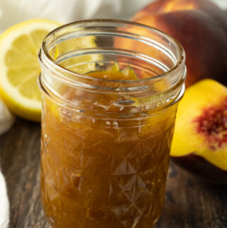 small jar of peach jam