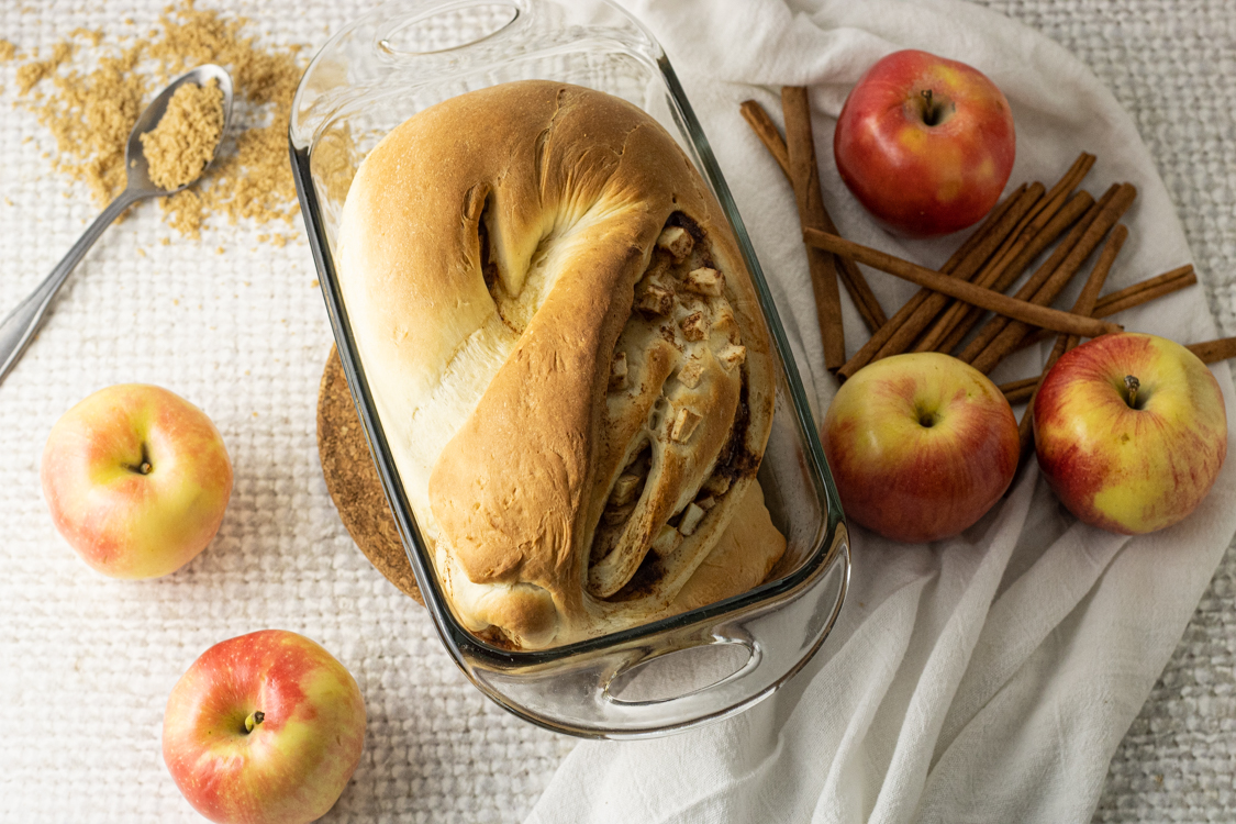 loaf of apple chunk bread