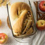 loaf of apple stuffed cinnamon bread