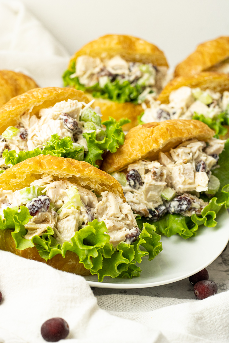 turkey salad sandwiches on croissants