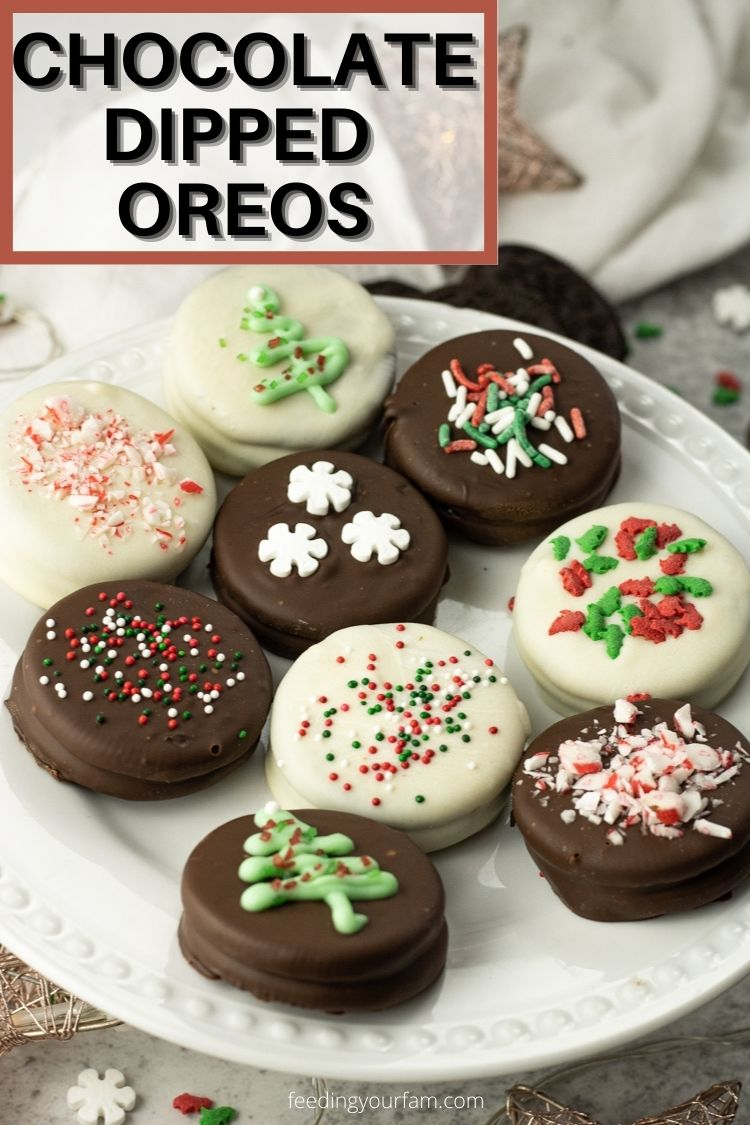 Chocolate Dipped Oreos are everyone's favorite cookie dipped in white or dark chocolate. Such an easy treat to make for any occasion.
