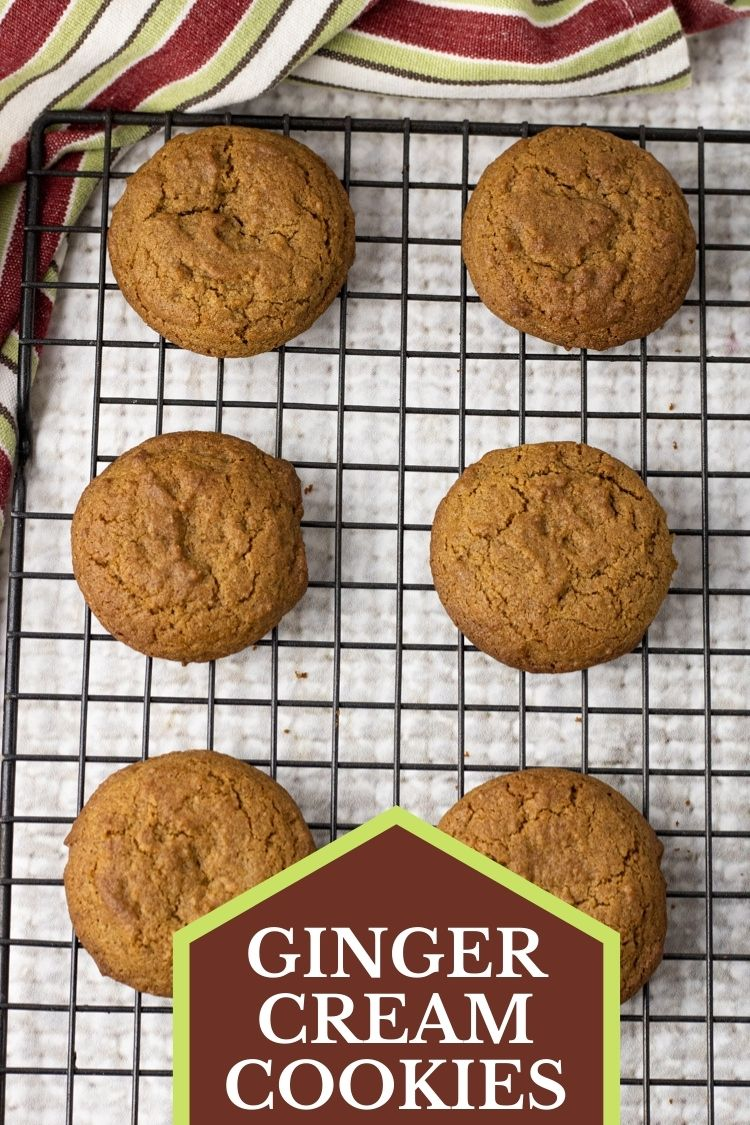 Ginger Cream Cookies are soft, tender ginger cookies.