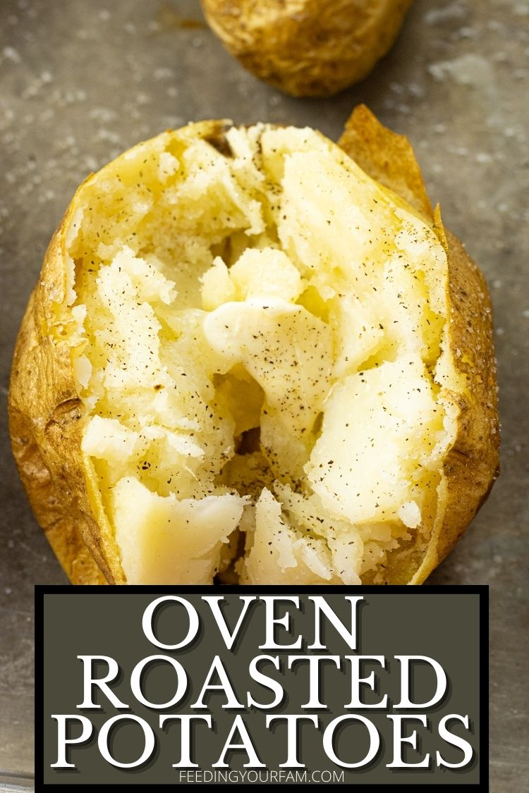 Oven Baked Potatoes have a perfectly crisp outer skin with a soft, fluffy flesh on the inside. They come out perfect every time!!