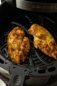 chicken breasts in air fryer basket