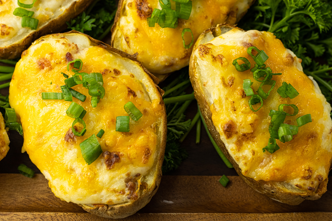 twice baked potatoes cooked in an air fryer