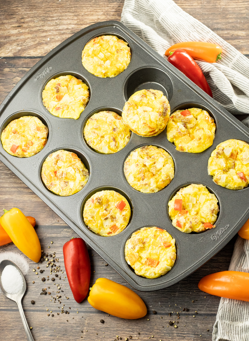 egg muffins in a muffin pan