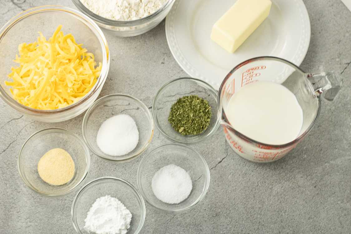 ingredients for biscuits
