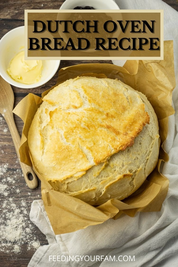 Dutch oven baked bread is a crust bread with a soft and fluffy center.