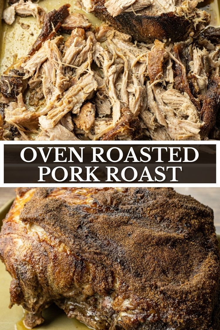 Simple Oven Roasted Pulled Pork is perfectly seasoned with simple spices and roasted until it falls apart. Make delicious pulled pork sandwiches, tacos and so much more.