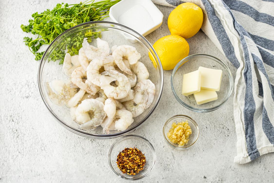 easy lemon shrimp ingredients