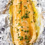 salmon cooked in butter and brown sugar