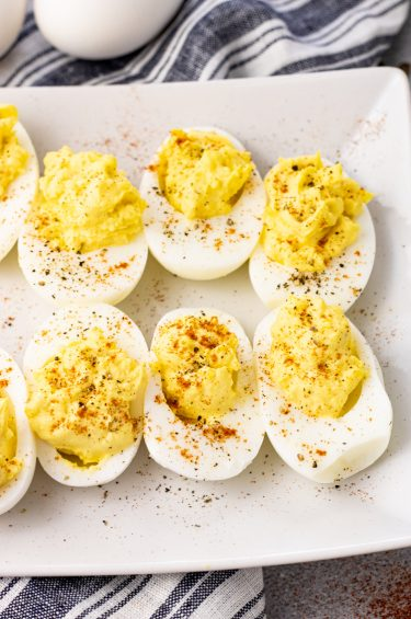platter of deviled eggs