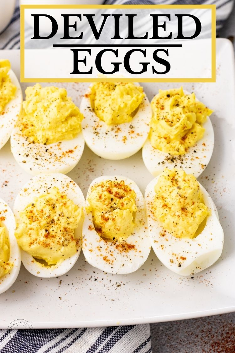 Deviled eggs are a pot luck classic. Everyone loves these egg whites stuffed with a simple yolk mixture. A simple appetizer for all of your get togethers.