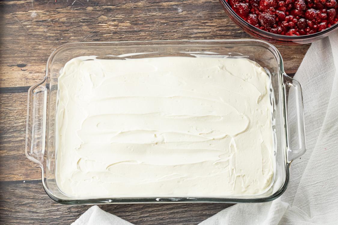 cream layer on jello salad