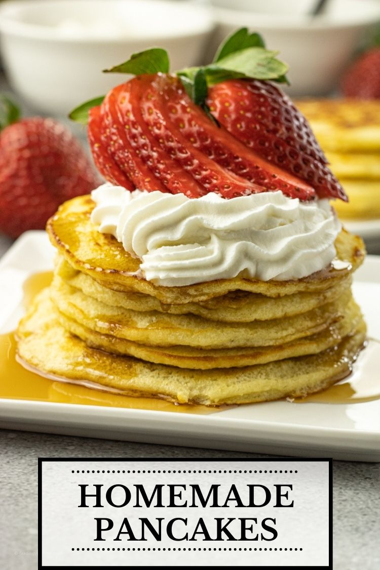 Pancakes are a breakfast, lunch and dinner classic. Made with just a few ingredients, this pancake recipe is so easy to make for a quick meal any day of the week. Pancakes from scratch are soft, fluffy, buttery, warm and delicious.