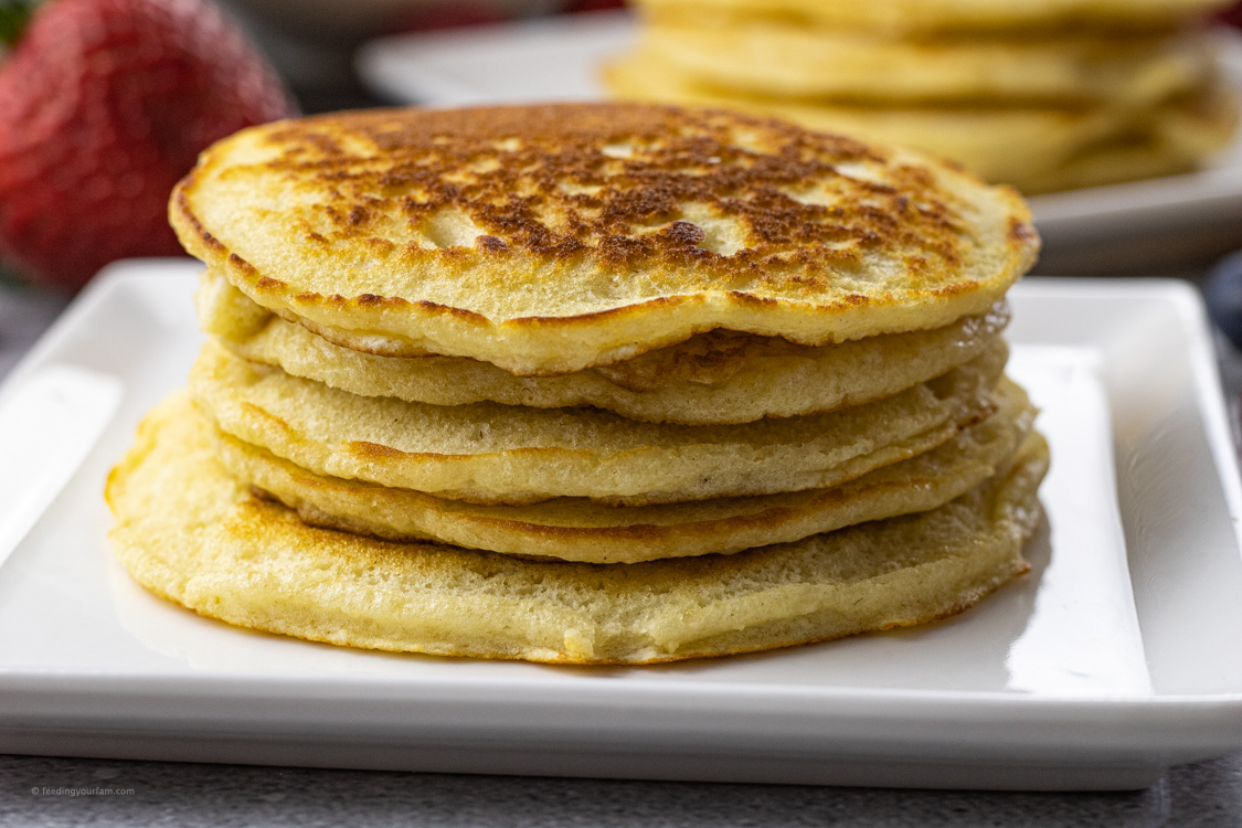 pile of cooked pancakes