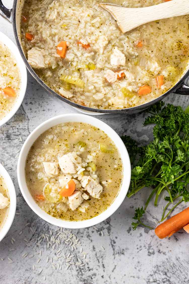 soup with chicken and rice