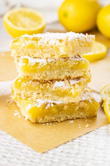stack of lemon bars