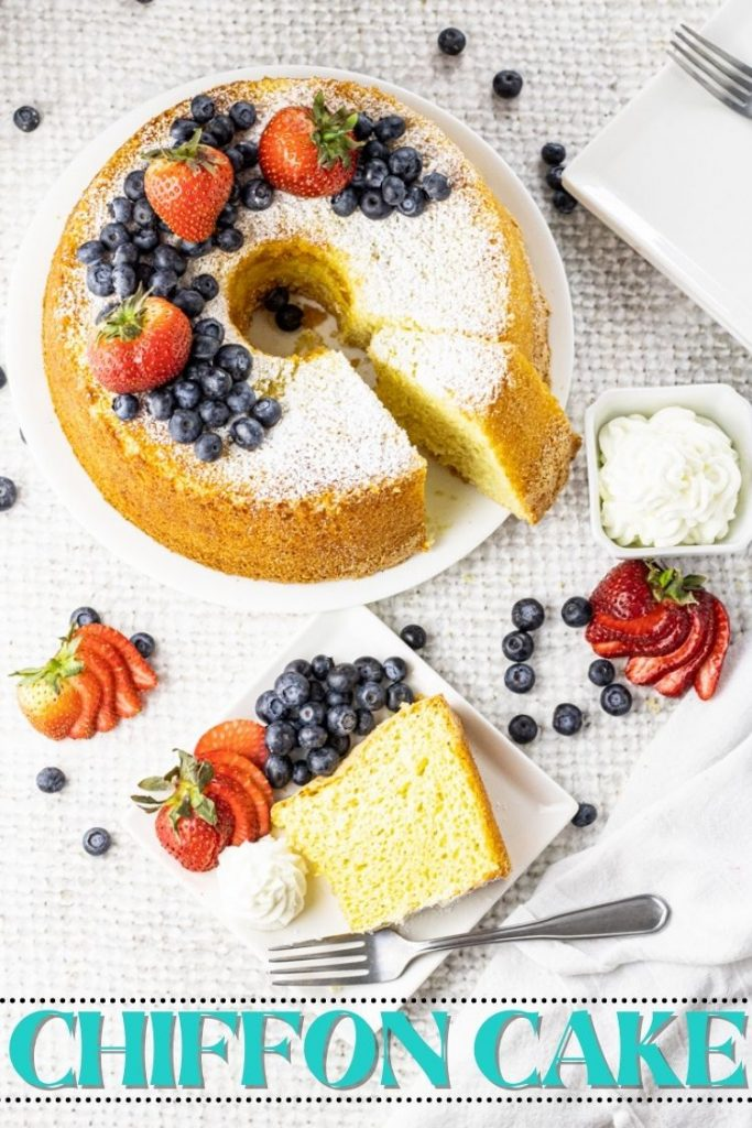 round cake with a slice taken out