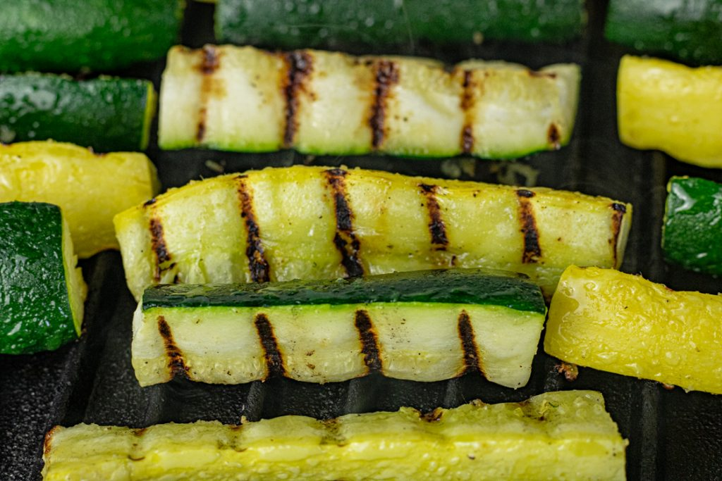 zucchini and yellow squash grilling