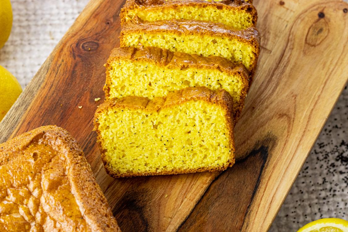 slices of yellow lemon bread