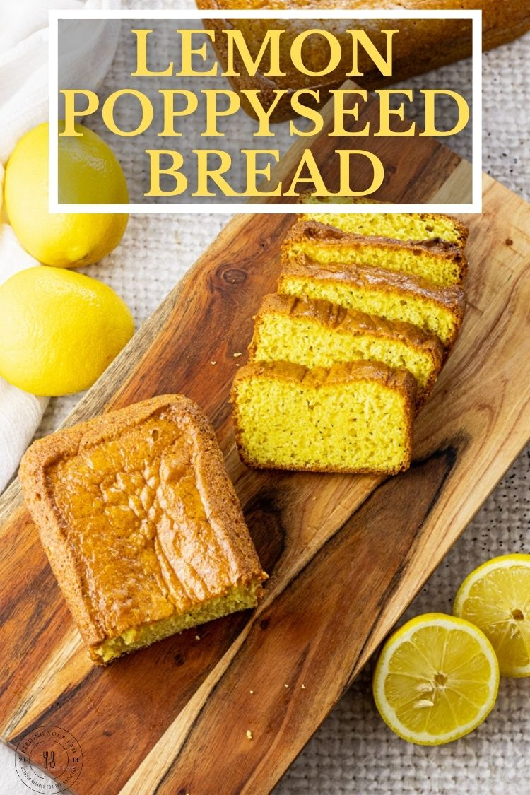 Lemon Poppyseed Bread is a simple, sweet, quick bread that is made with cake mix, pudding mix and other simple ingredients.