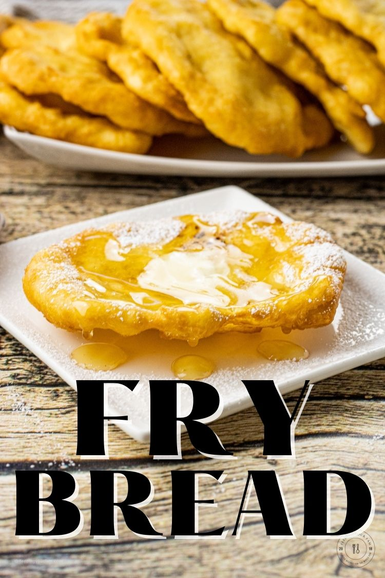 Fry Bread is a thin, scone like, fried bread that only has 4 ingredients and comes together quick. Fry bread is delicious on its own with a bit of butter and honey or jam or this fry bread recipe can also be used to make a quick dinner of fry bread tacos.