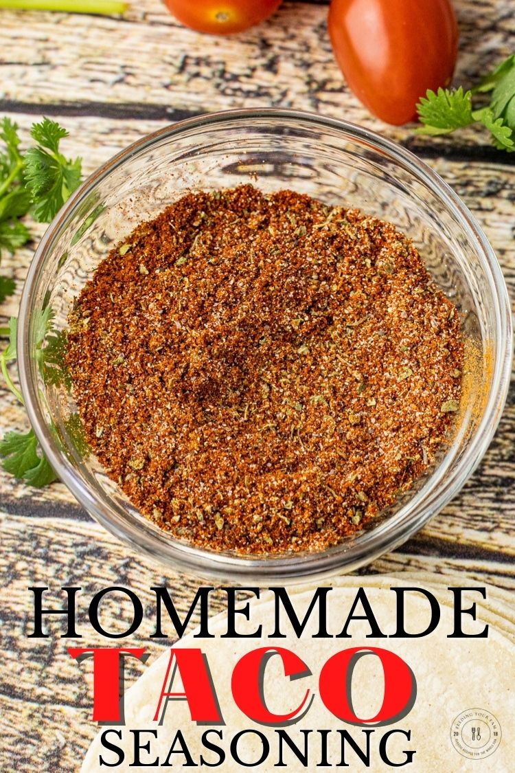 Homemade Taco Seasoning is so easy to make, just takes a few simple spices that you probably already have on your spice shelf. This Taco Seasoning Recipe is perfect for adding to ground beef, seasoning chicken or pork for tacos, salads, quesadillas and so much more.