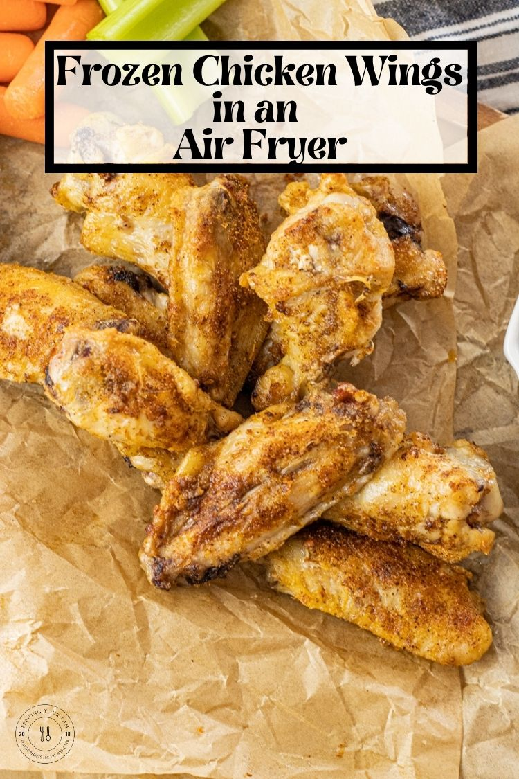 Air Fryer Frozen Chicken Wings are so easy to make. Drizzle the frozen chicken wings with a little oil, season and cook to perfection in just 20 minutes. This recipe for cooking Frozen Chicken Wings in the Air Fryer takes just a few ingredients, a little time to prep and makes tasty wings every time.