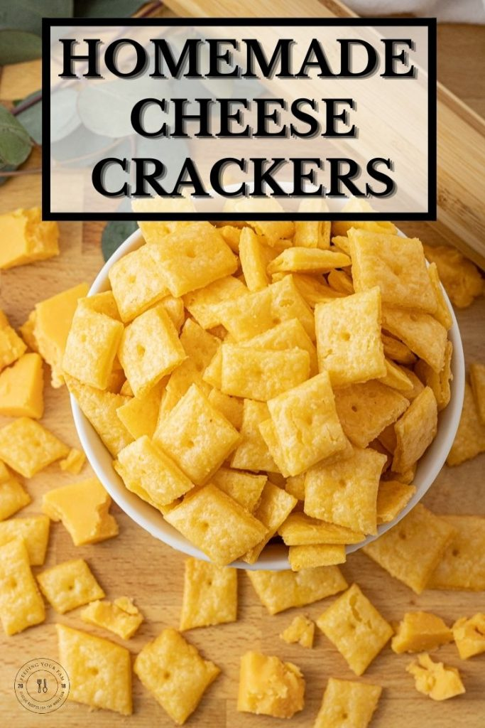 bowl of square crackers